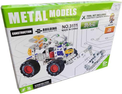 Детска играчка Конструктор за игра със 198 броя метални части