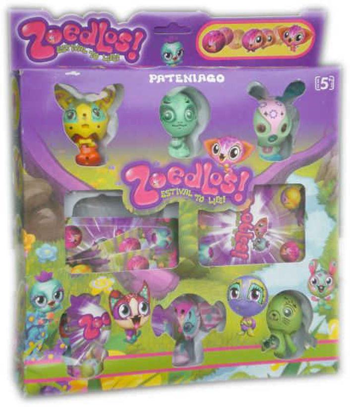 Детска играчка Зубълс Zoobles 6 броя с карти