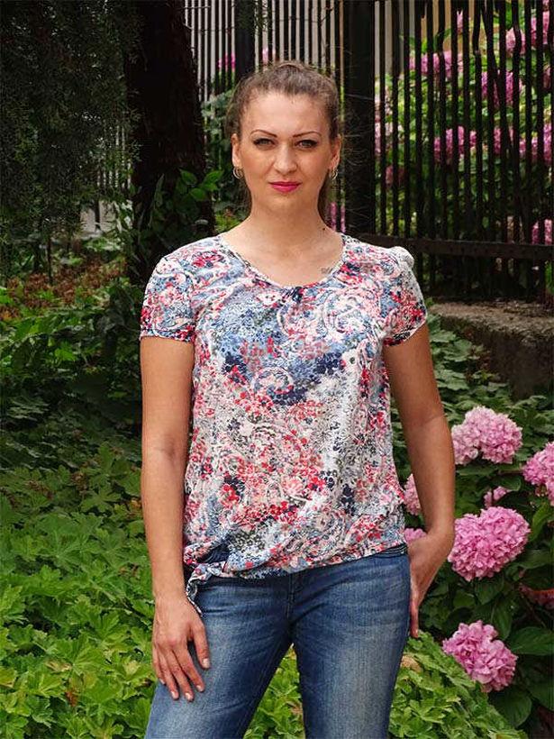 Блузка Julia с макси номерация за лятото