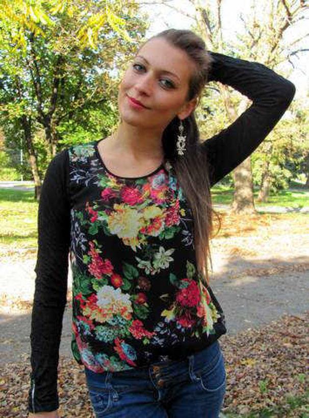 Блузка Julia шифон балон на цветя