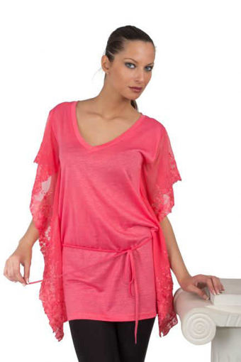 Дамска блуза с дантела коралова Julia