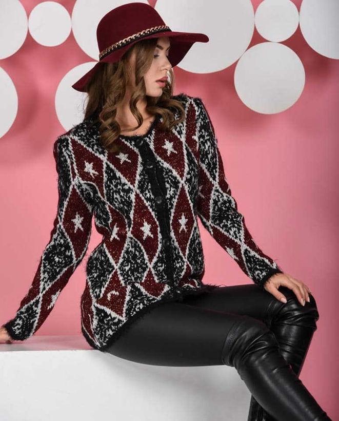 Дамска жилетка с копчета на ромбове от Joly Fashion