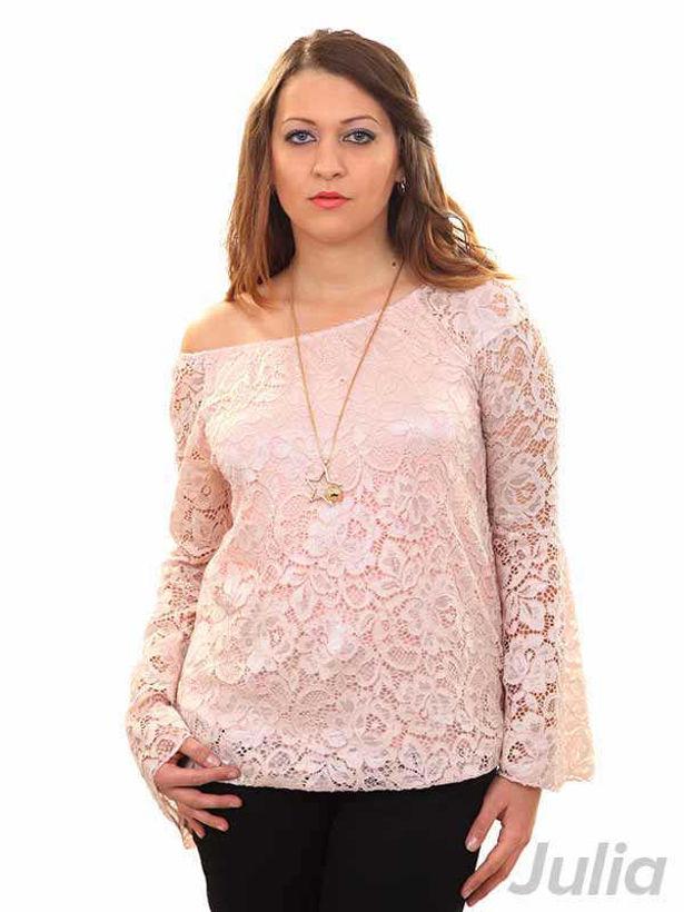 Дантелена блуза с колие Julia