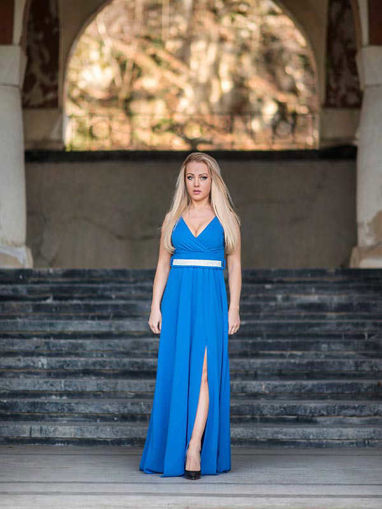 Дълга официална рокля с цепка Julia