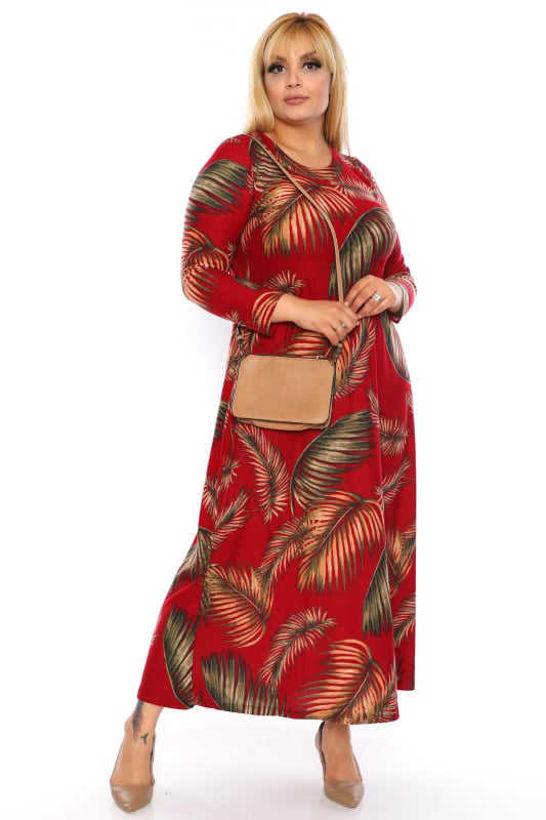 Дълга рокля едри жени винено червена