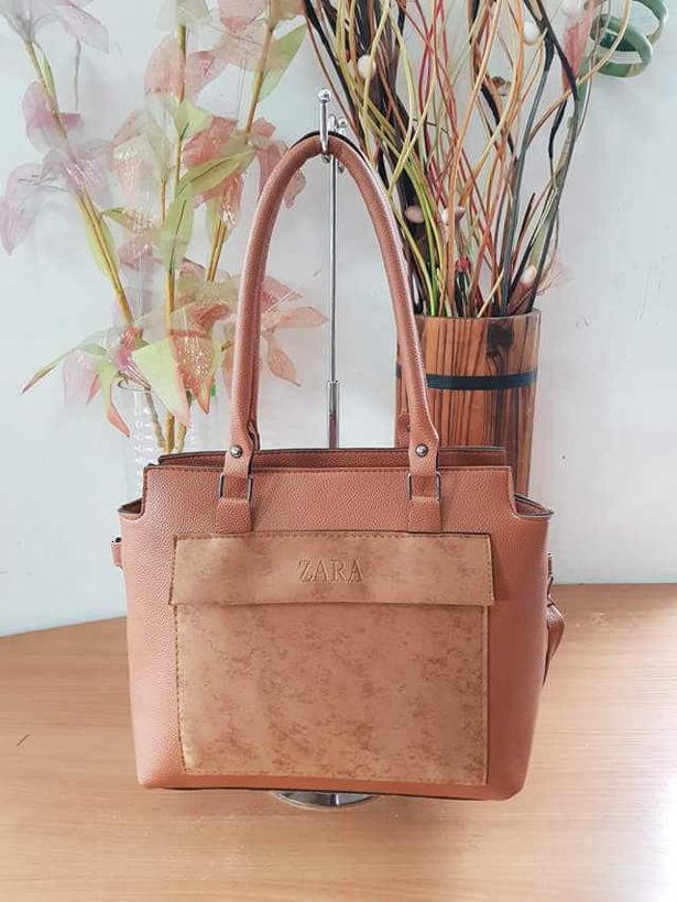 Кафява чанта реплика Zara от Joly Fashion