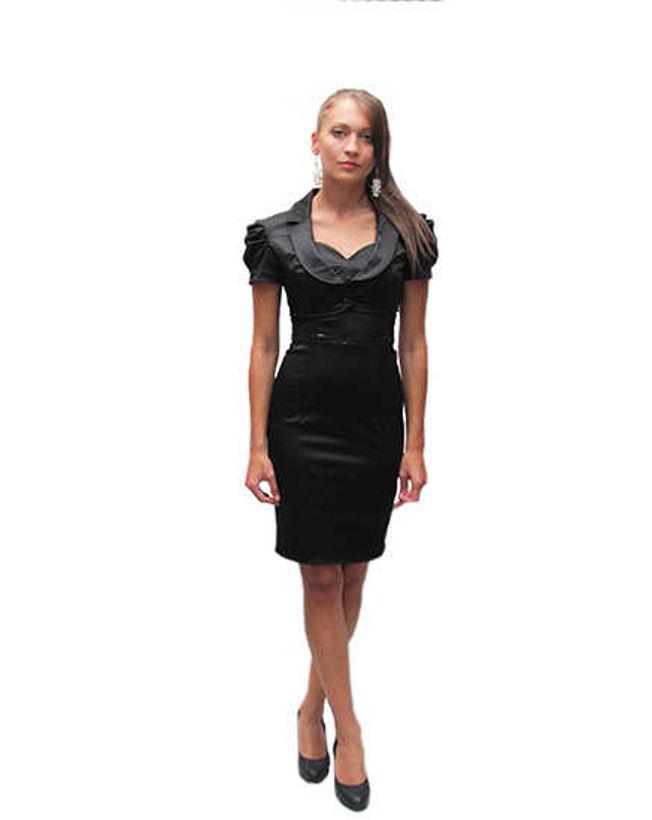 Комплект рокля с болеро от сатен