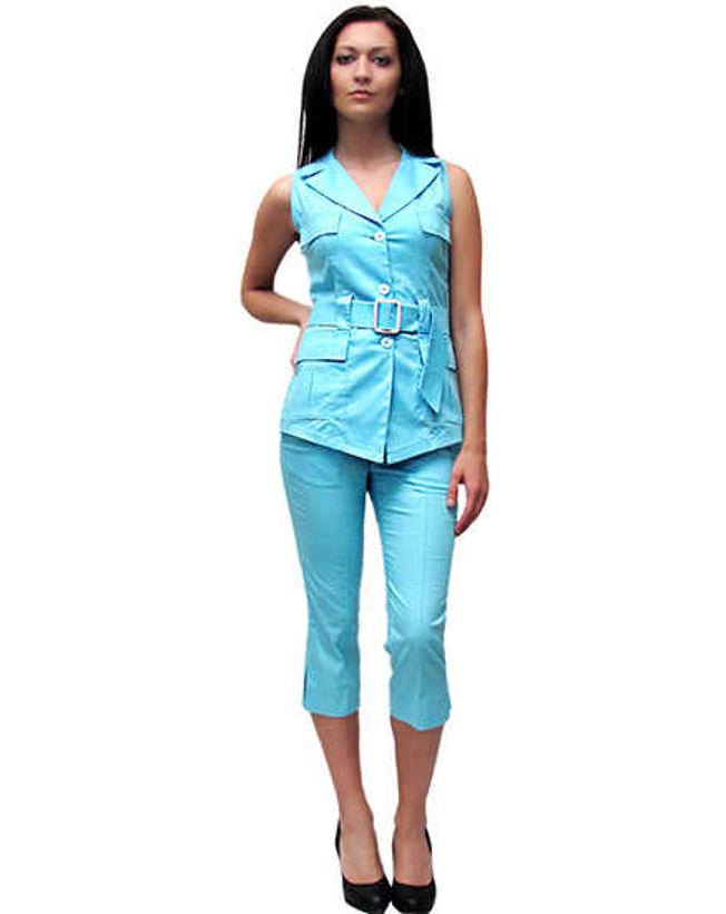 Комплект с панталон светло електриково син от Joly Fashion