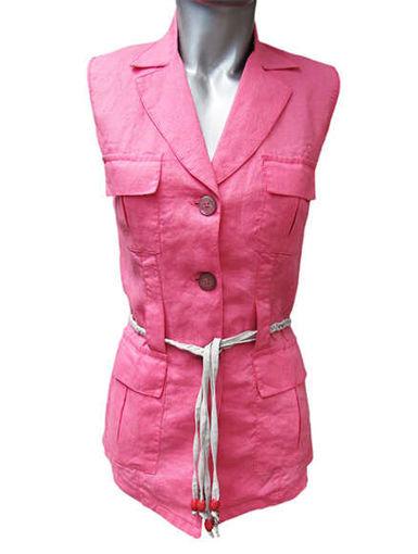 Ленен жакет с джобове и ревер от Joly Fashion