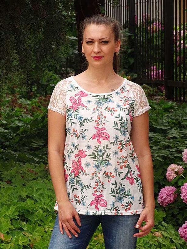 Лятна блуза Ивая на цветя Julia
