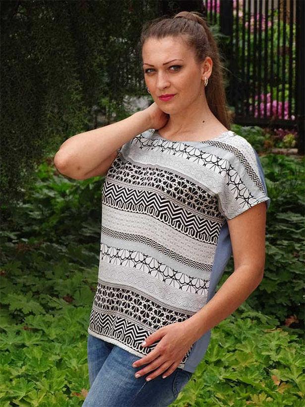 Лятна блузка Камелия от коприна и вискоза