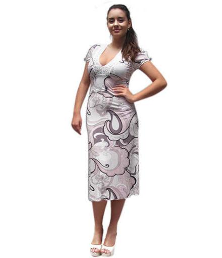Лятна дамска рокля от трико Julia
