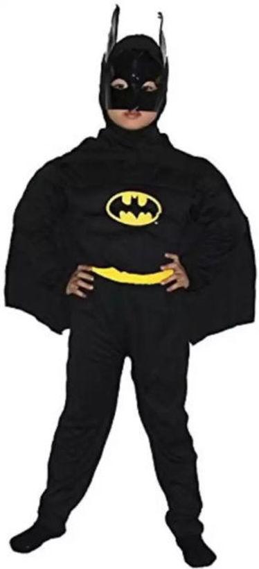Детски костюм на Батман от три части с наметало и маска