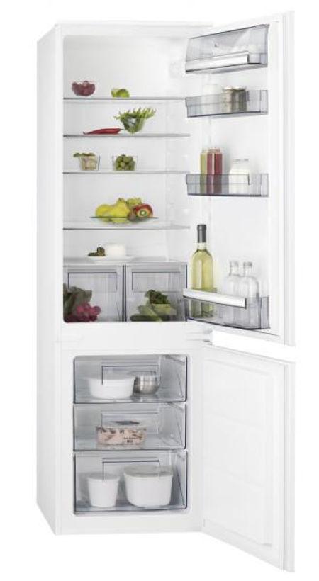 Хладилник с фризер за вграждане AEG - SCB51811LS
