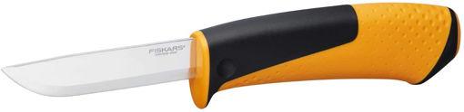 Нож с пила с вградено точило в канията  FISKARS -1023619