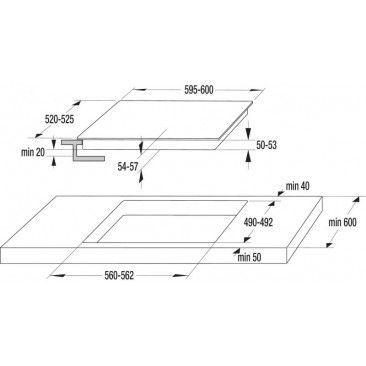Стъклокерамичен плот за вграждане Gorenje ECT648ORAW