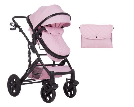 Комбинирана количка 2 в 1 с трансф.седалка Kikkaboo Darling Pink 2020