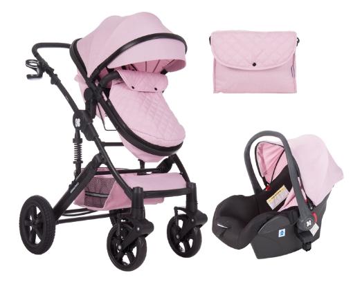 Комбинирана количка 3 в 1 с трансф.седалка Kikkaboo Darling Pink 2020