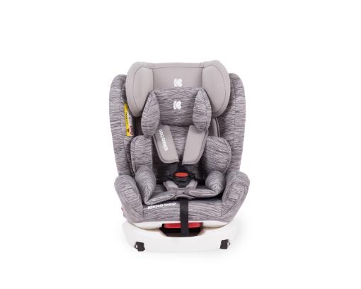 Стол за кола 0-1-2-3 (0-36 кг) Kikkaboo 4 Fix DOUBLE ISOFIX Light Grey