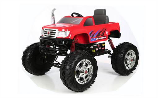 Акумулаторна кола Kikkaboo Rollplay Monster, 24v, red