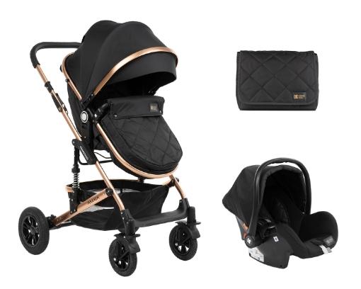 Комбинирана количка 3 в 1 с трансф.седалка Kikkaboo Amaia All Black