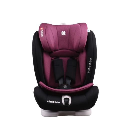 Стол за кола 1-2-3 (9-36кг) Kikkaboo Viaggio ISOFIX Raspberry 2020