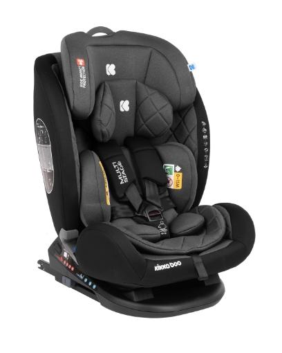 Стол за кола 0-1-2-3 (0-36 кг) Kikkaboo Multistage ISOFIX Black
