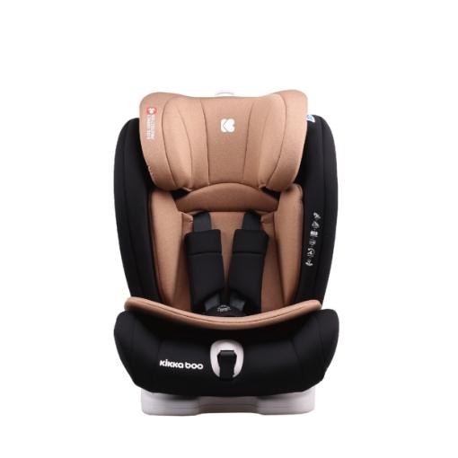 Стол за кола 1-2-3 (9-36кг) Kikkaboo Viaggio ISOFIX Beige 2020