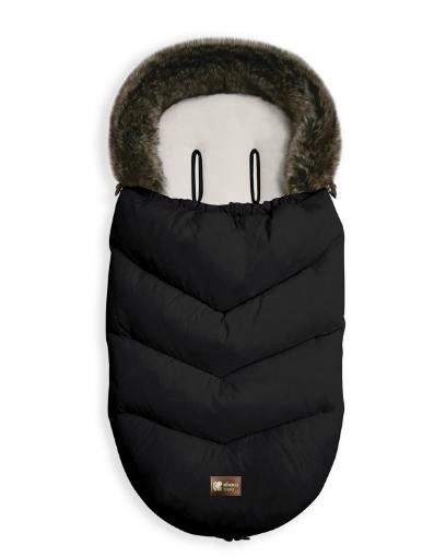 Чувалче за количка Kikkaboo Luxury Fur Black
