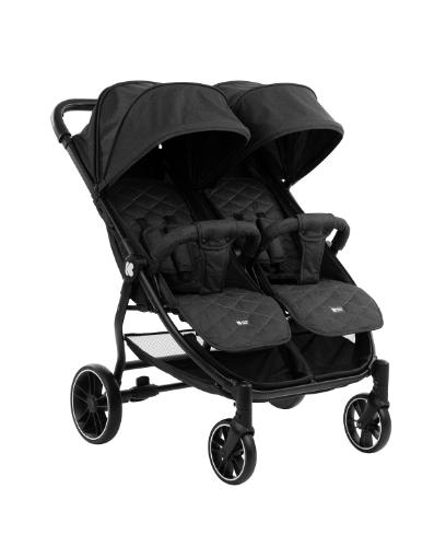 Бебешка количка за близнаци Kikkaboo Happy 2 2020 Black