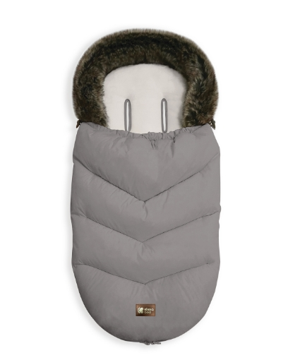 Чувалче за количка Kikkaboo Luxury Fur Grey
