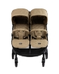 Бебешка количка за близнаци Kikkaboo Happy 2 2020 Beige