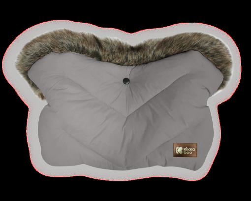 Ръкавица за количка Kikkaboo Luxury Fur Grey