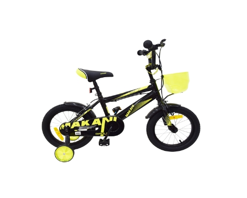 Kikkaboo Makani Детски велосипед 12`` Diablo Black-Yellow