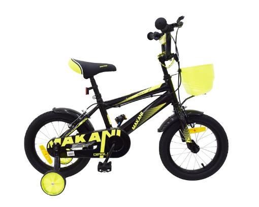 Kikkaboo Makani Детски велосипед 16`` Diablo Black-Yellow